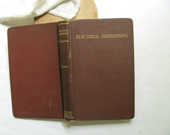Vintage Electrical Engineering Handbook Book First Edition Kimberly 1939 Textbook Electronic Circuit Power Instruments Decor Stack Library