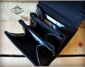 Leather Accordion Wallet - Clutch - Mini accordion Wallet - Wallet - Boutique