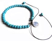 Turquoise bead bracelet from Lombok