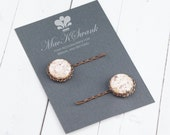 Pink Bobby Pins - Vintage Copper Hair Pins - Rose Gold Bobby Pins - Bridesmaid Gift - Gift Under 15 - Gift for Her - Christmas Gift