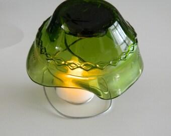 Mushroom Yardart Upcycled Wine Bottle Mushroom Green
