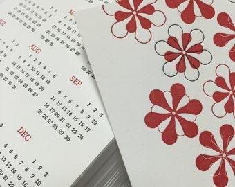 50% off - 2016 Letterpress Year at a Glance Calendar
