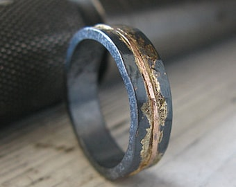 mens wedding band rustic wedding band mens wedding ring unique mens wedding band rustic ring viking - Mens Unique Wedding Ring