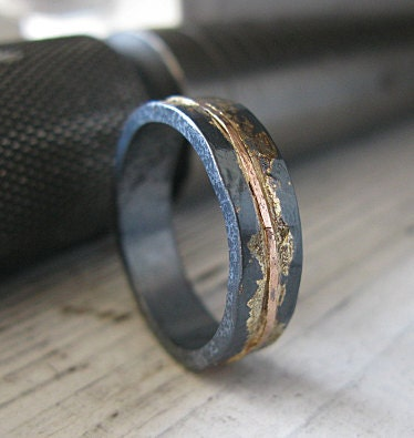 Rubber Wedding Rings For Men >> Mens Wedding Band Rustic Wedding Band Mens Wedding Ring Unique