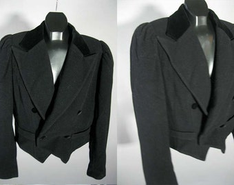 Vintage Laura Ashley Jacket - Double Breasted Blazer - L