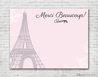 Parisienne Thank You Card - Instant Download