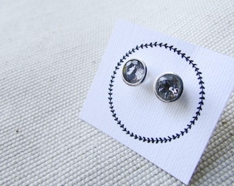 studs gemstone studs white topaz studs earrings small earrings small stone studs sterling silver earrings