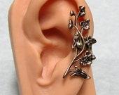 Floral Filigree leaf Ear Cuff