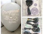 Personalized Pregnancy Announcement Balloon with Date Card and Envelope