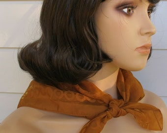 1960s Scarf Rust Color