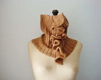 Sassy Cowl Crochet Pattern Cowl with Ruffles Tube Scarf Pattern Crochet Cowl Pattern