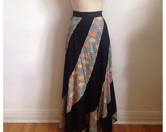 Vintage 1970s maxi skirt