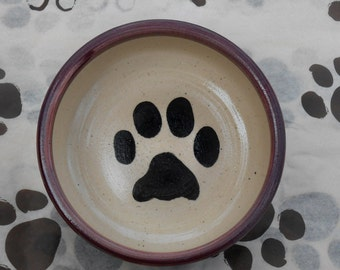 Paw Print Bowl in Berry Purple (Small)