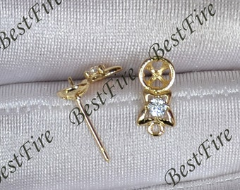 New style 24K Gold plated Brass Earring Findings,earrings findings,earwire findings