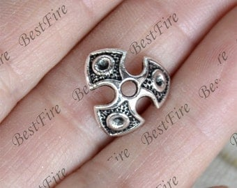 20 pcs of Antique Silver metal flower bead cups 13 mm,beadcap findings,beads,findings beads