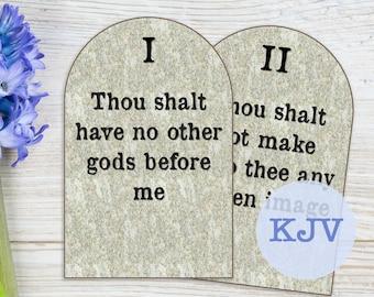 Ten Commandments, Sunday School decor, printable