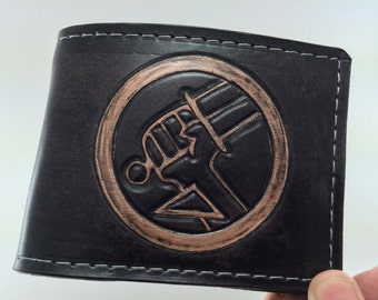 Hellboy Inspired BPRD Hand Tooled Wallet