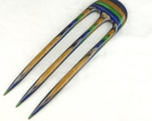Three Prong Hair Fork made from Field&Stream DymondWood-  Very durable. Water resistant.