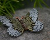 L. Razza Vintage Butterfly Brooch, pin, Jewerly