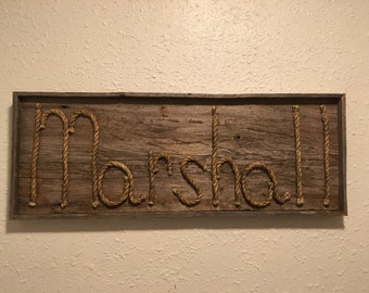 Rope Name sign -MADE TO ORDER