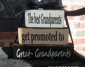 "Grandma/mothers day""CHUNKY""stacker blocks--The best Grandparents get promoted to Great-Grandparents"