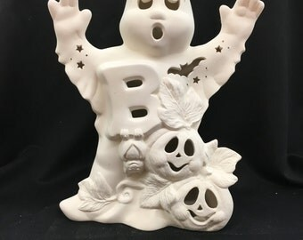 Ceramic Boo Ghost Bisque (unfinished)