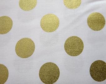 Riley Blake - Shimmer Dot Medium Gold - SC430 - 52