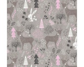 Woodland in Zinc   cam2143702-2 - HELLO MY DEER - Camelot Cotton Fabrics - By the Yard