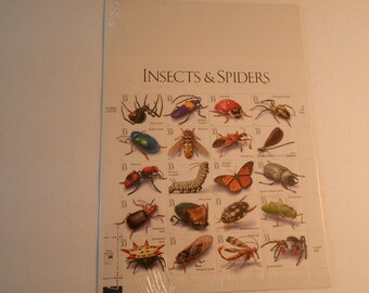 US Postage Insects and Spiders full pane sheet stamps
