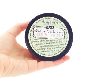 Grapefruit Mint Organic Deodorant Powder - Body Powder Deodorant All Natural Vegan Grapefruit Mint Essential Oil Blend