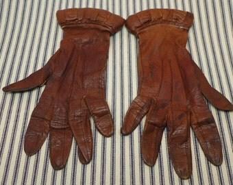 Vintage Leather Gloves - Women's Gloves - Ladies Gloves