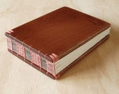 Mahogany Wood Guest Book Rustic Wedding Cabin Guestbook, Sketchbook or Journal Unique anniversary gift custom memorial book - ready to ship