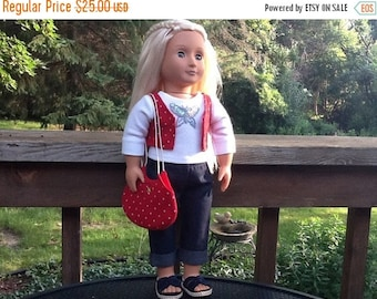 20% OFF - 18 Inch Doll Clothes Denim Summer Outfit including Sandals