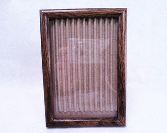 Frame 3.5 x 5 Faux Bois Wood Print Vintage 60s #287