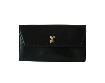 Authentic Paloma Picasso Black Leather Wallet Made in Italy