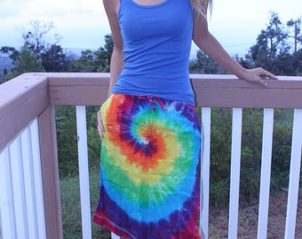 Tie dye Eddie Bauer skirt upcycled