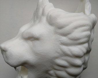 Roaring Lion Head Bicycle Water Bottle Holder - 3D Printed