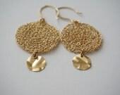 Earings Crochet Lace Gold Gossamer