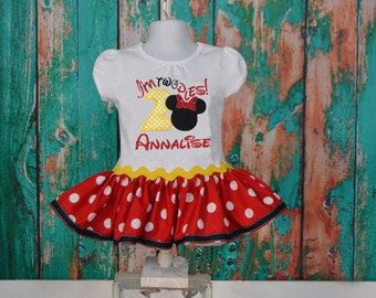 Minnie Mouse Oh Twodles Birthday Dress - I'm two - Disney
