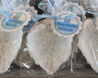 10 Angel Wings Soap Party Favors:  Birthday favors, Baptism Favors, Christening Favors, Baby Shower Favors, Baby Sprinkle, Wedding Favors