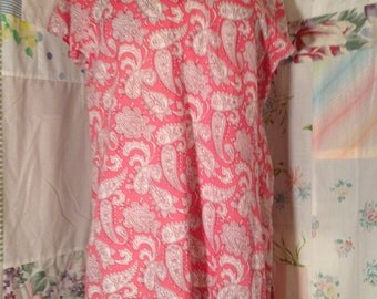 SMALL/MED Tunic Top Boho Flowerchild Hippie Lightweight Cotton Long Tunic Top