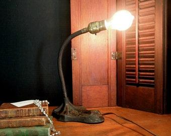 Vintage Gooseneck Lamp / Garage Chic / Urban Industrial / Office Decor / Modern Farmhouse