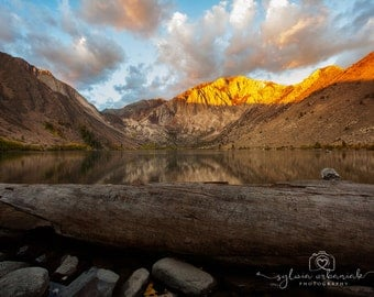 Sunrise Photography Landscape Nature Photography Mountain Photography Morning Clouds  Convict Lake home decor  Fine Art Photography Print