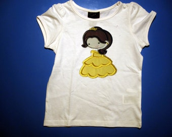 Baby one piece & Toddler tshirt - Embroidery and appliqued Princess2