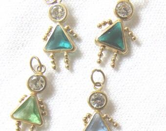 14k Gold Birthstone Babies Girls Children Charms Necklace Bracelet