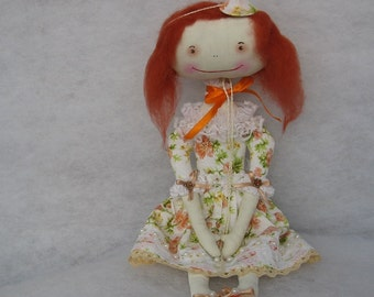Primitive doll  Toys doll Cloth doll Collecting doll Primitive art doll Soft sculpture