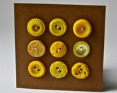 Small Vintage Yellow Buttons in Assorted Designs for Sewing and Crafting