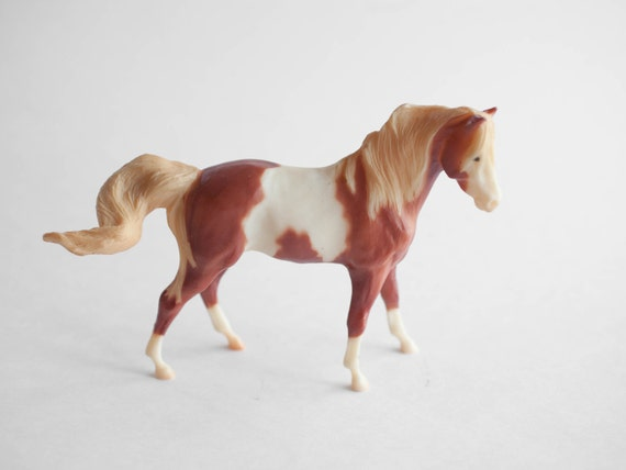 Vintage Breyer Horse Toy White and Brown Mare Collectible
