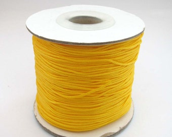 One Roll Yellow Silk Cord For Jewelry Bracelet/Necklace/Pendant/Hanging  ja539