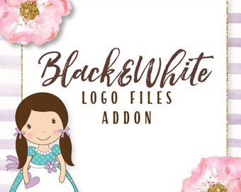 add on: add a set of black and white files to your logo purchase EPS Illustrator Vector and PNG Files